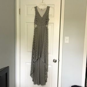Striped Hi-Lo Dress with adorable cut out